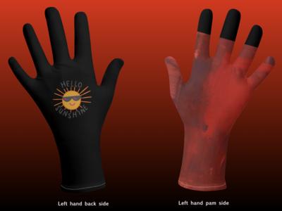 Hello Sunshine Tie and Dye Hand Gloves