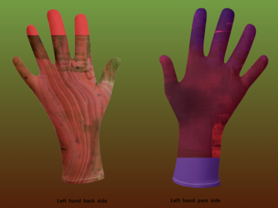Peach and Breathe Tie and Dye Hand Gloves