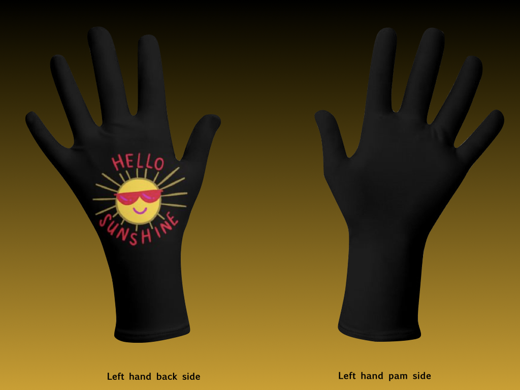 Black Theads and Hello Sunshine Hand Gloves