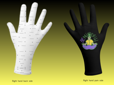 African Print  and KhuKhuZ Logo Hand Gloves