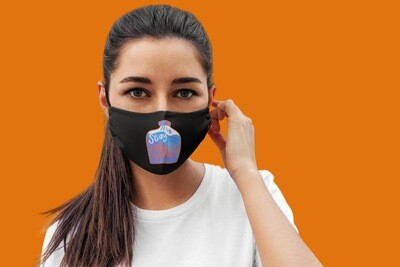 Stay Hydrated Face Mask Black