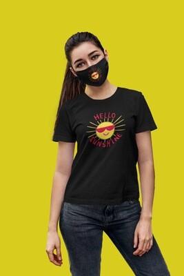Hello Sunshine Face Mask Black