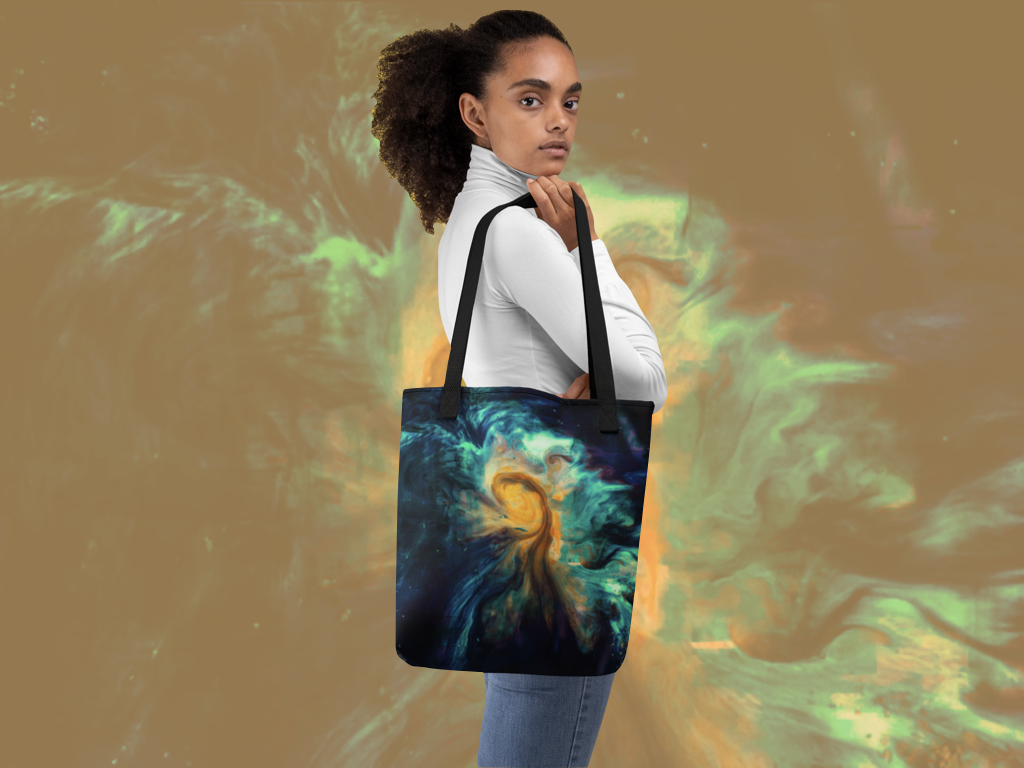 Classic Blue Tie and Dye Tote Bag