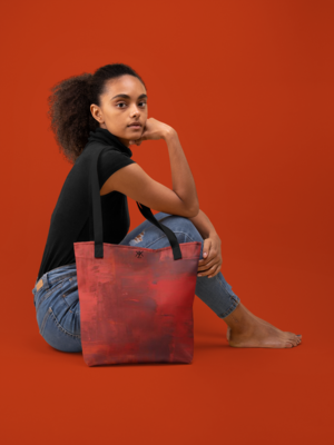 Tangerine Water Colour  Tote Bag