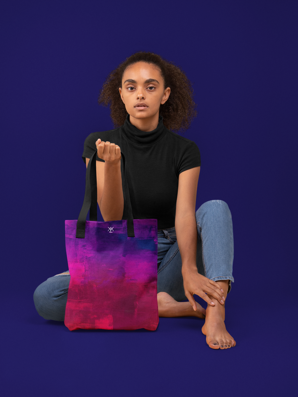Violet Tie and Dye Tote Bag