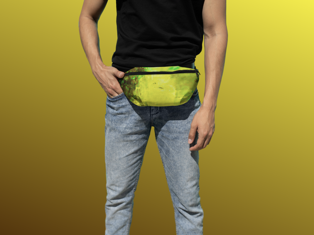 Lime Tie and Dye Fanny Pack