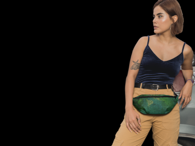 Green Tie and Dye Fanny Pack