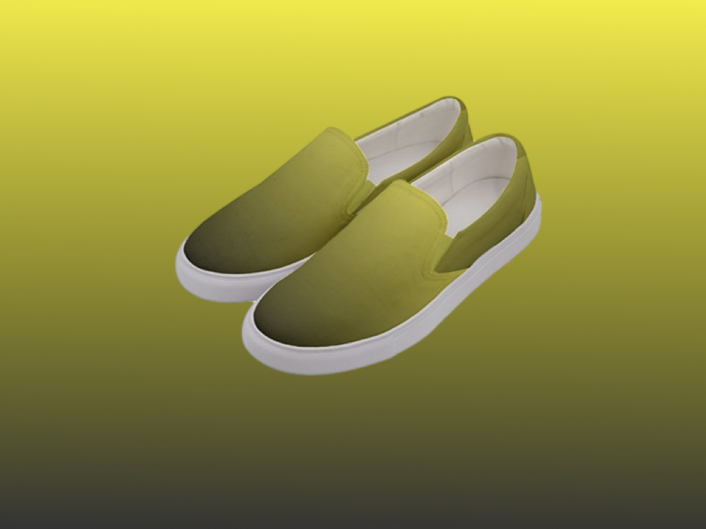Women's Gradient Yellow and Grey Slip Ons
