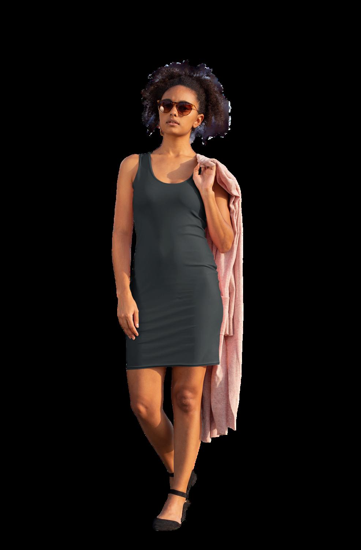 Solid Black Bodycon Dress