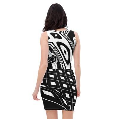 Monochrome Bodycon Dress