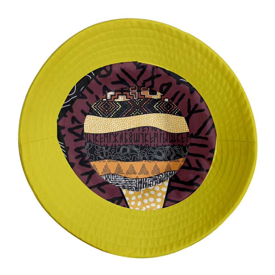 Afro Print 8 Bucket Hat