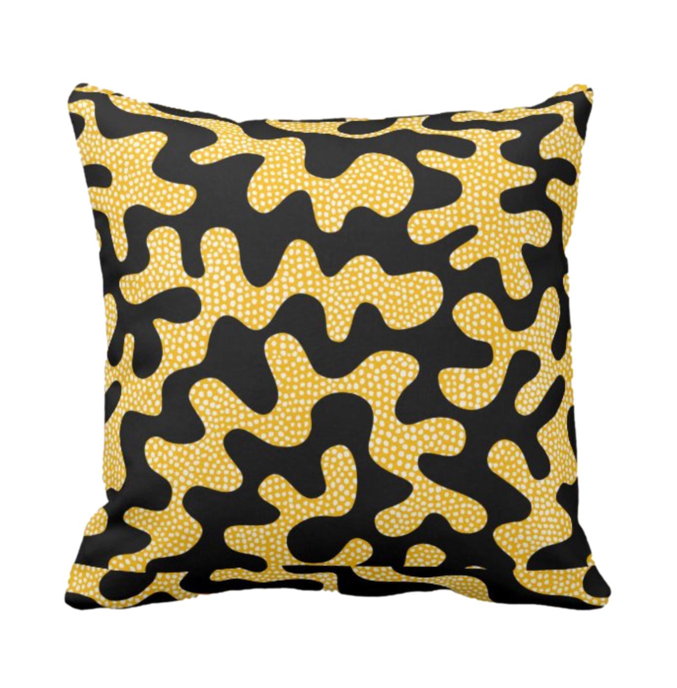 Afro Patchwork Print Design 4 Throw Cushion