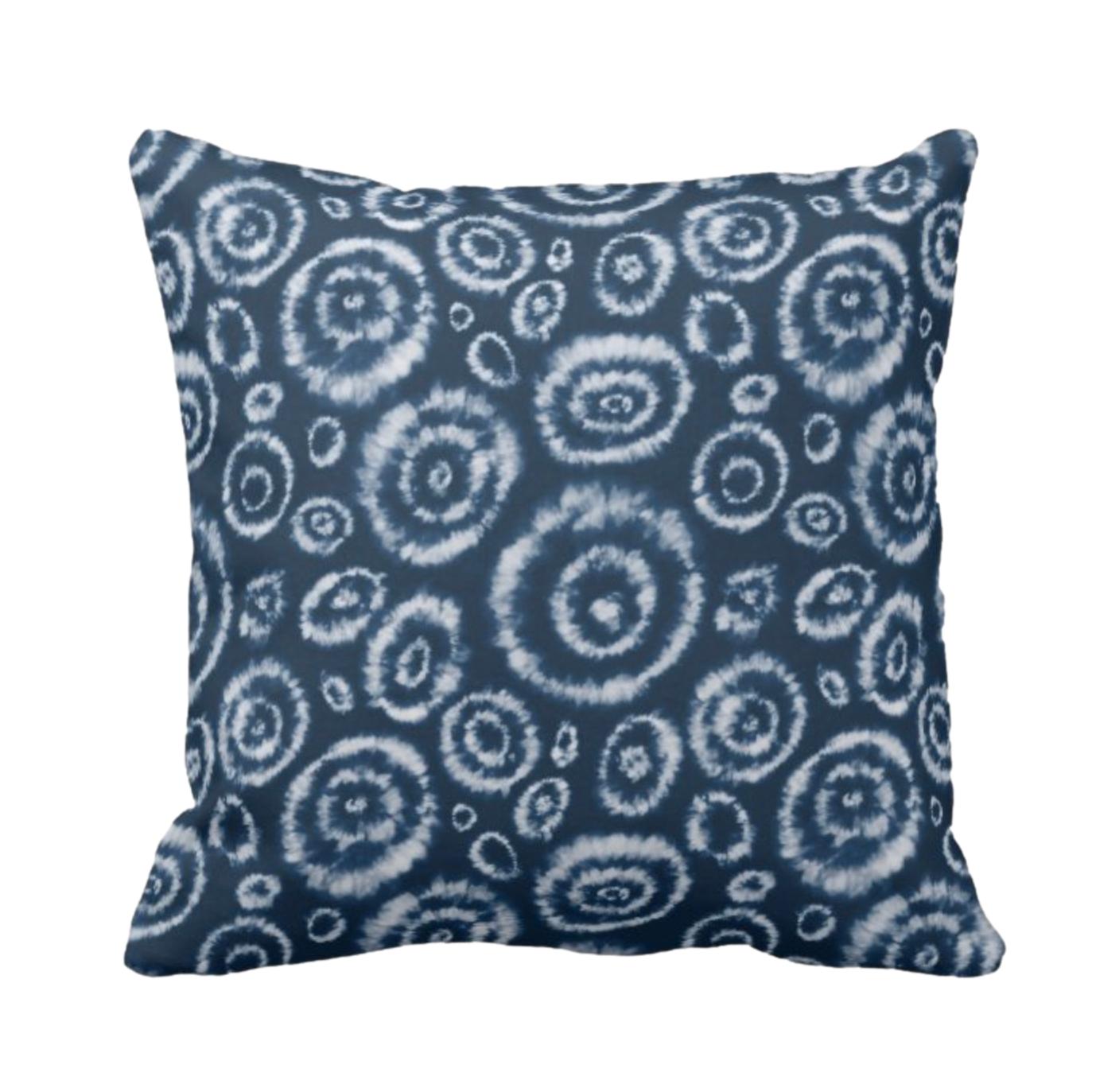 Tie Dye Print Design Throw Cushion 1