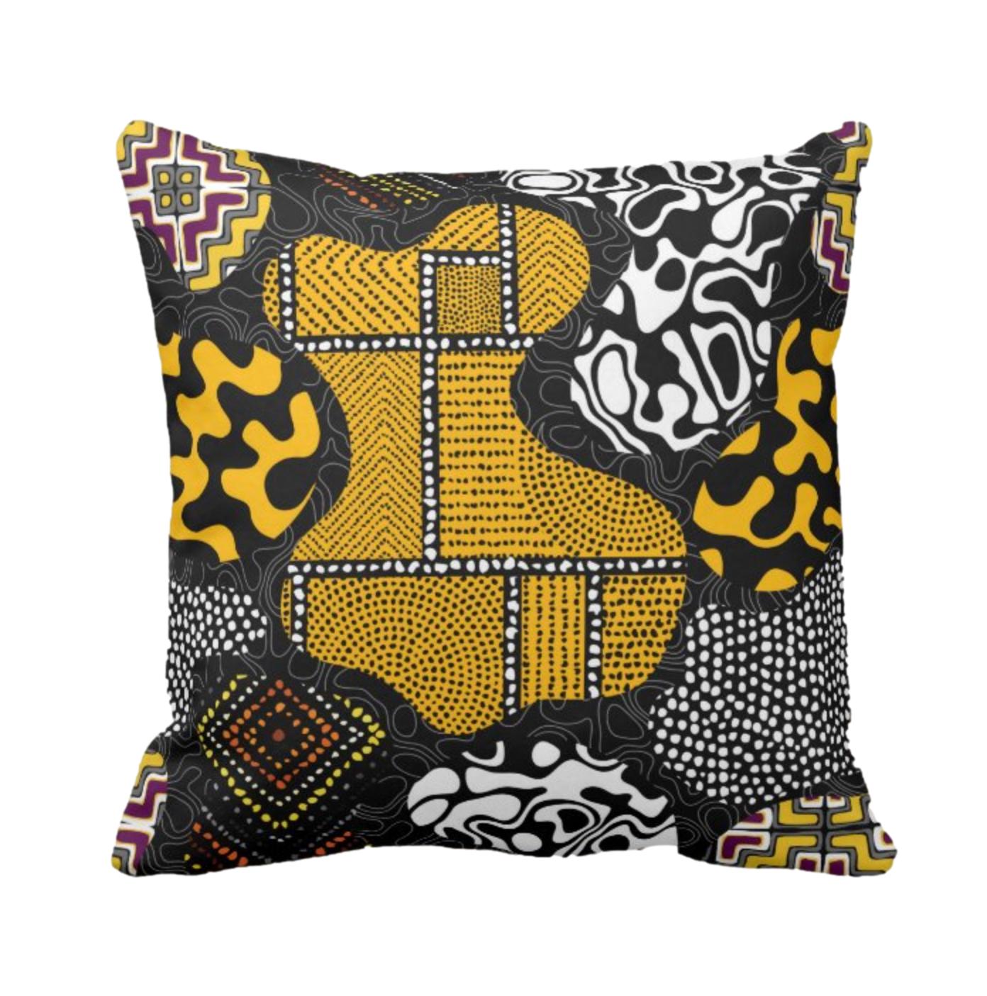 Afro Patchwork Print Design 7 Throw Cushion