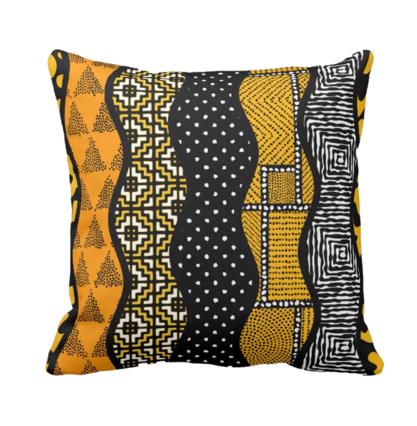 Afro Patchwork Print Design 5 Throw Cushion