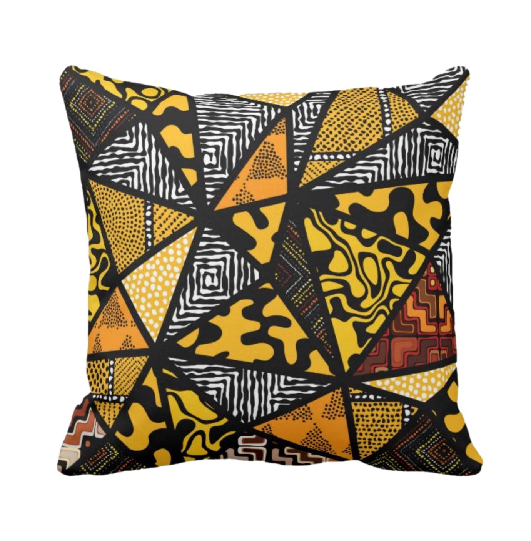 Afro Patchwork Print Design 9 Throw Cushion