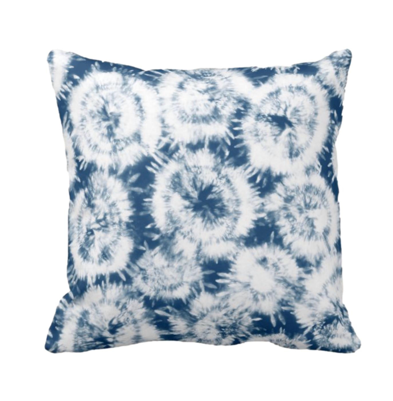 Tie Dye Print Design Throw Cushion 6