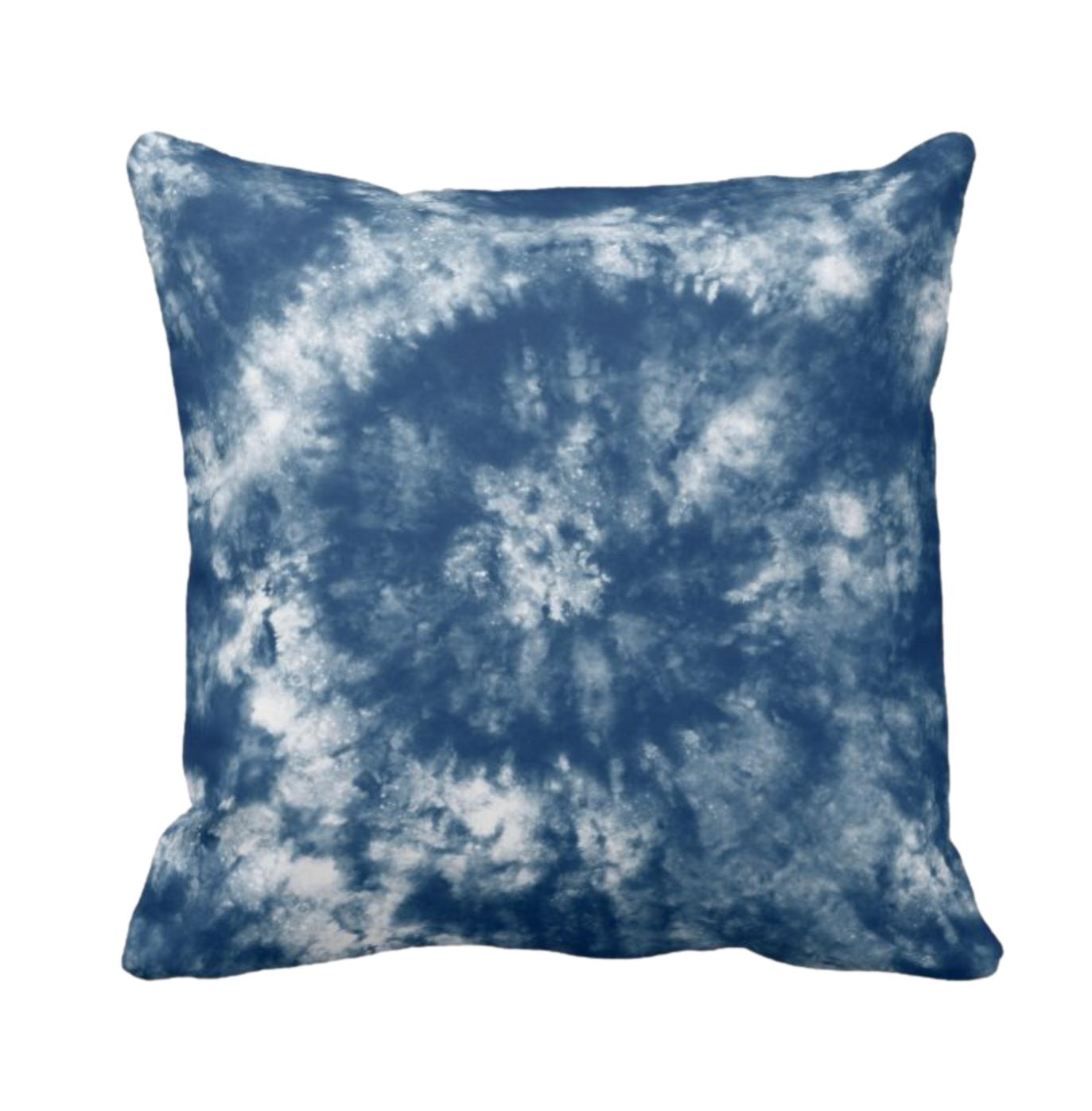 Tie Dye Print Design Throw Cushion 5
