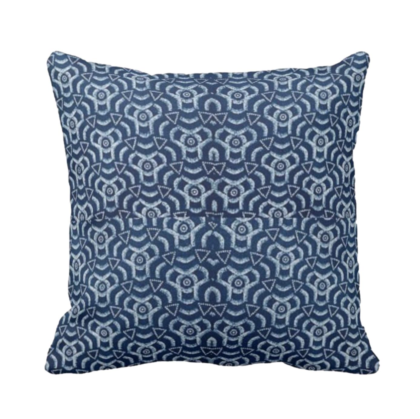 African Print Design Throw Cushion