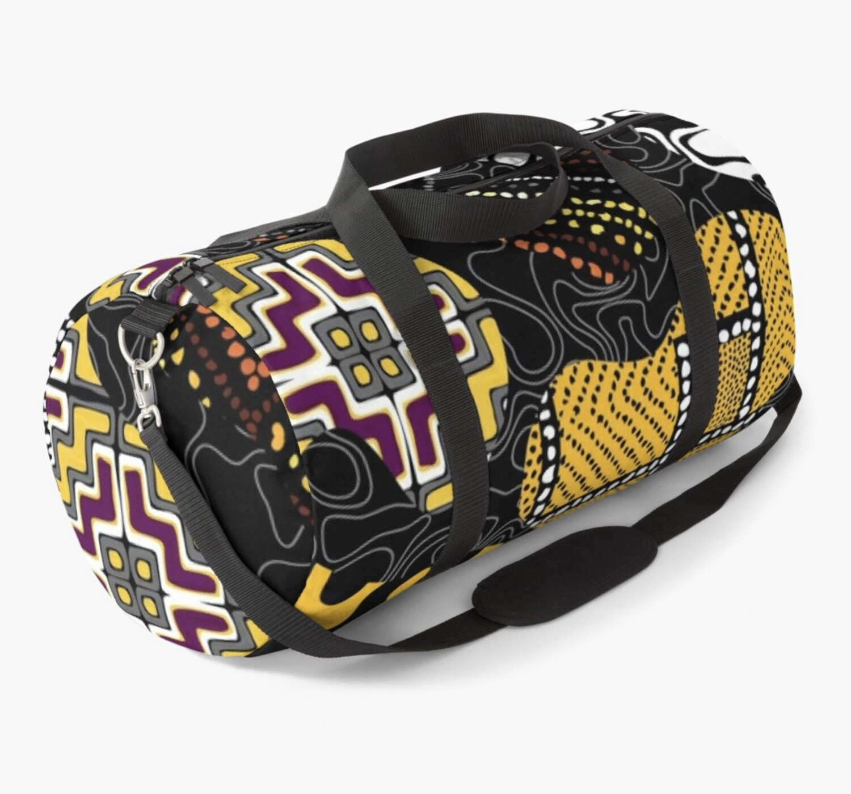 Afro Patchwork Print Design 1 Duffel Bag