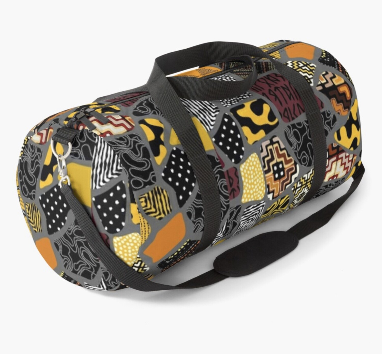 Afro Patchwork Print Design 6 Duffel Bag