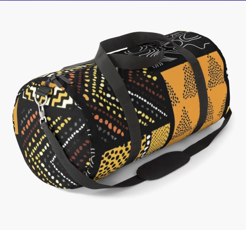Afro Patchwork Print Design 2 Duffel Bag