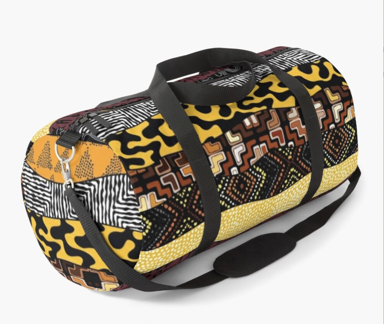 Afro Patchwork Print Design 4 Duffel Bag