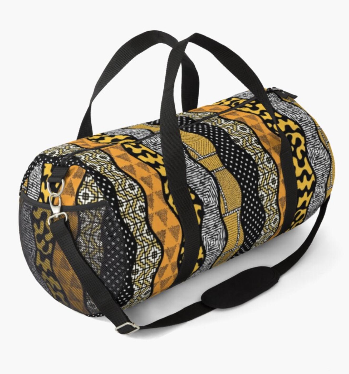 Afro Patchwork Print Design 7 Duffel Bag