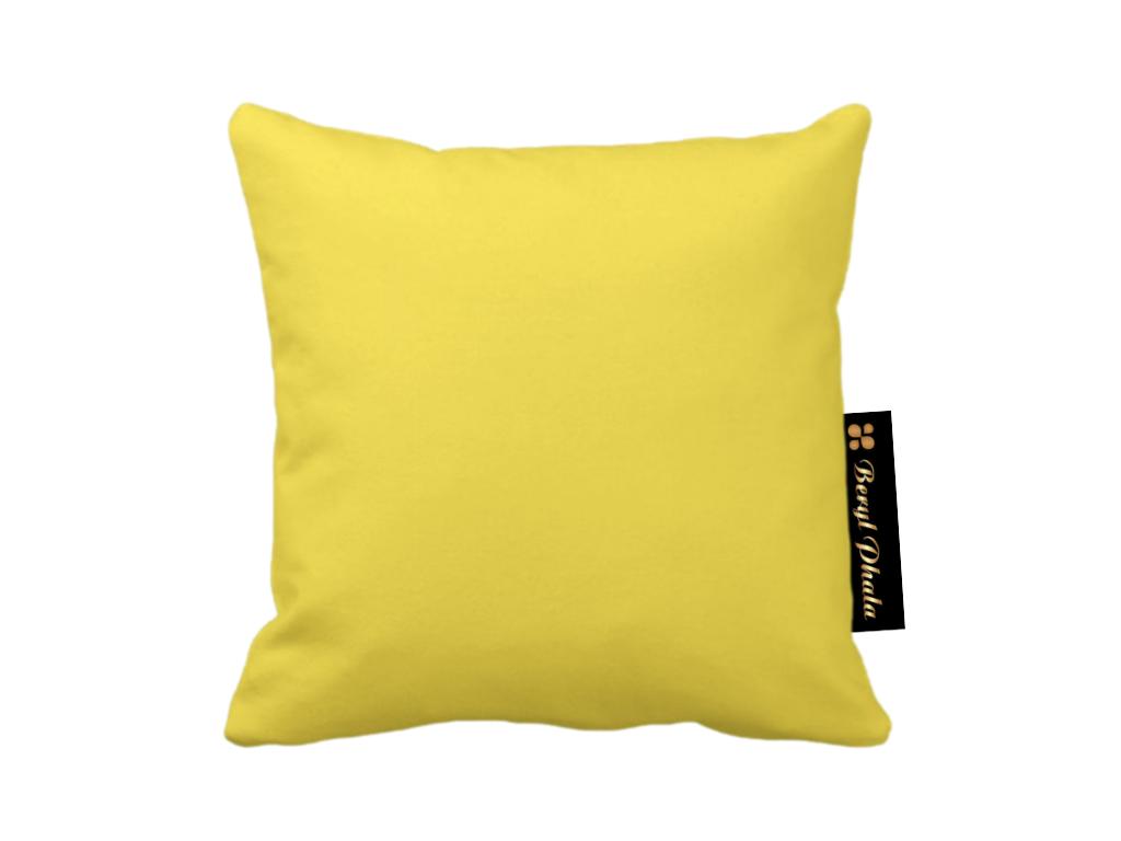 Solid Yellow Throw Cushion