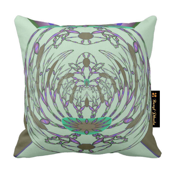 Abstract Floral Luxury Cushion - 2
