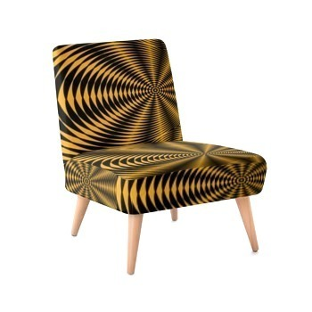 Occasional Chair - Black & Gold Zebra Print