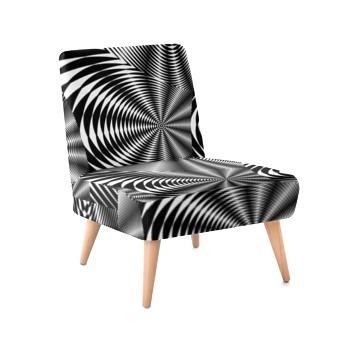 Occasional Chair - Black & White Zebra Print