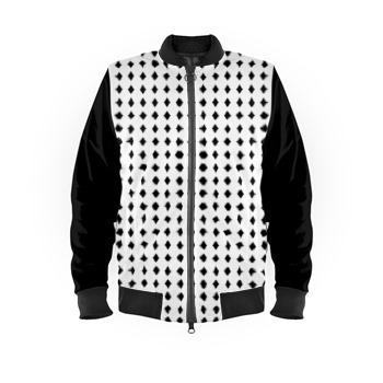 Bomber Jacket Black Diamonds Print