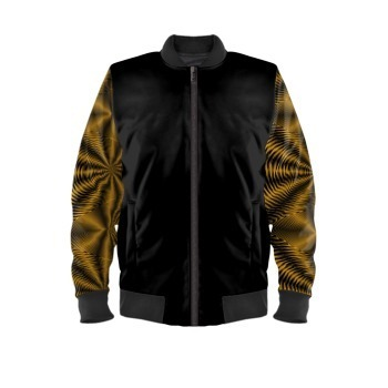 Bomber Black and Gold Sleeves