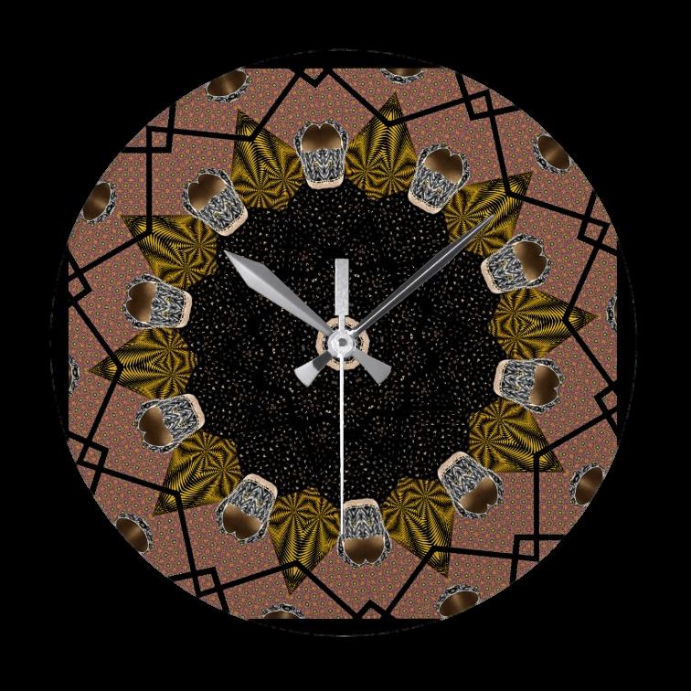 Shoe print design wall clock - Round