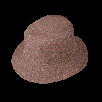 Mauve Print Bucket Hat