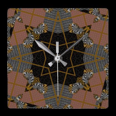 Multi print design wall clock - Square