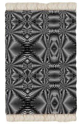 Floor Rug Black and White  Zebra Print Design