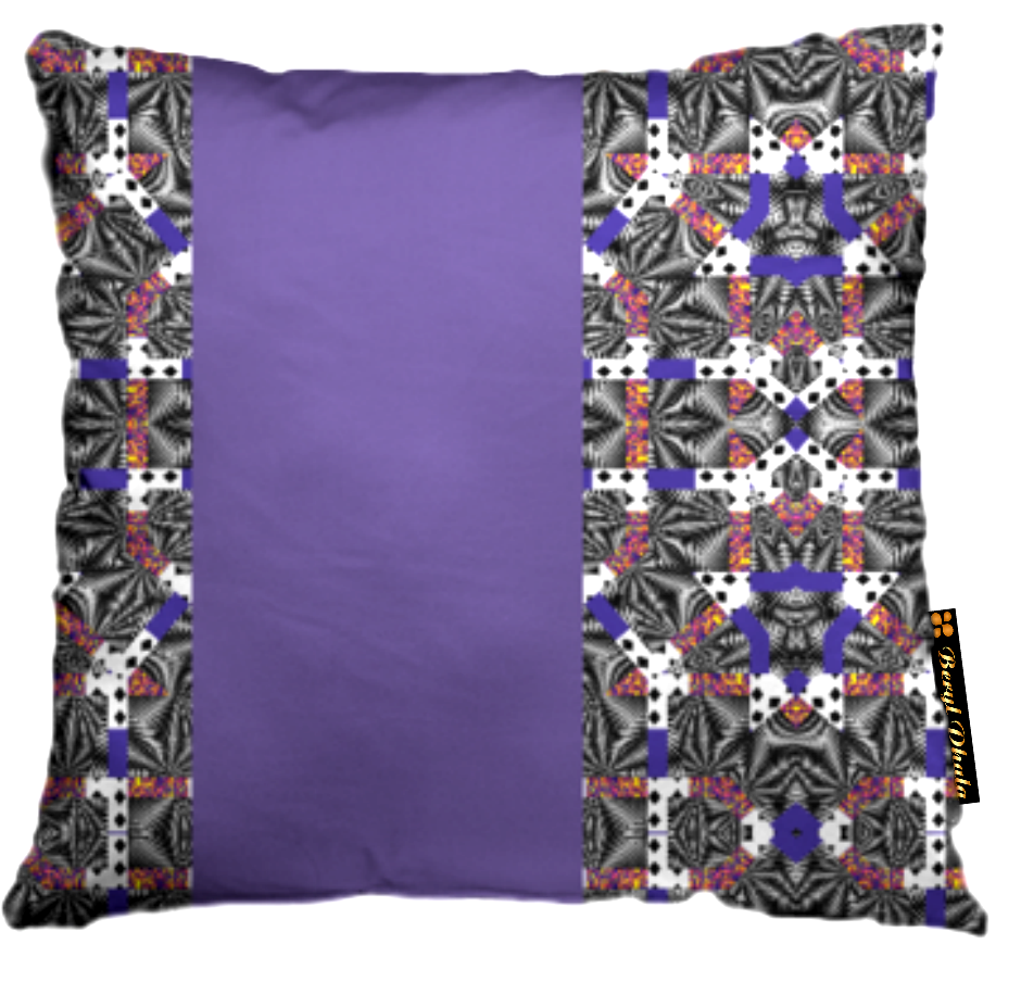 MASHED-UP PRINT CUSHION COVER 2