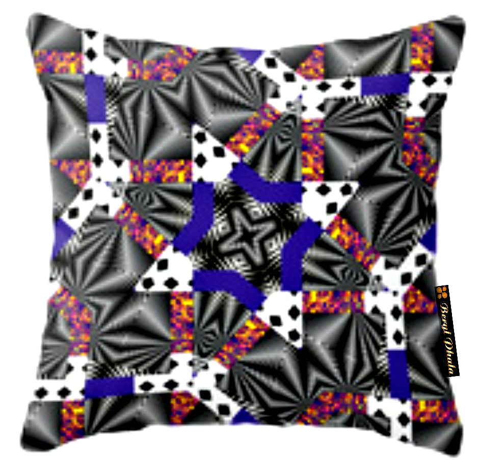 MASHED-UP PRINT CUSHION COVER 3