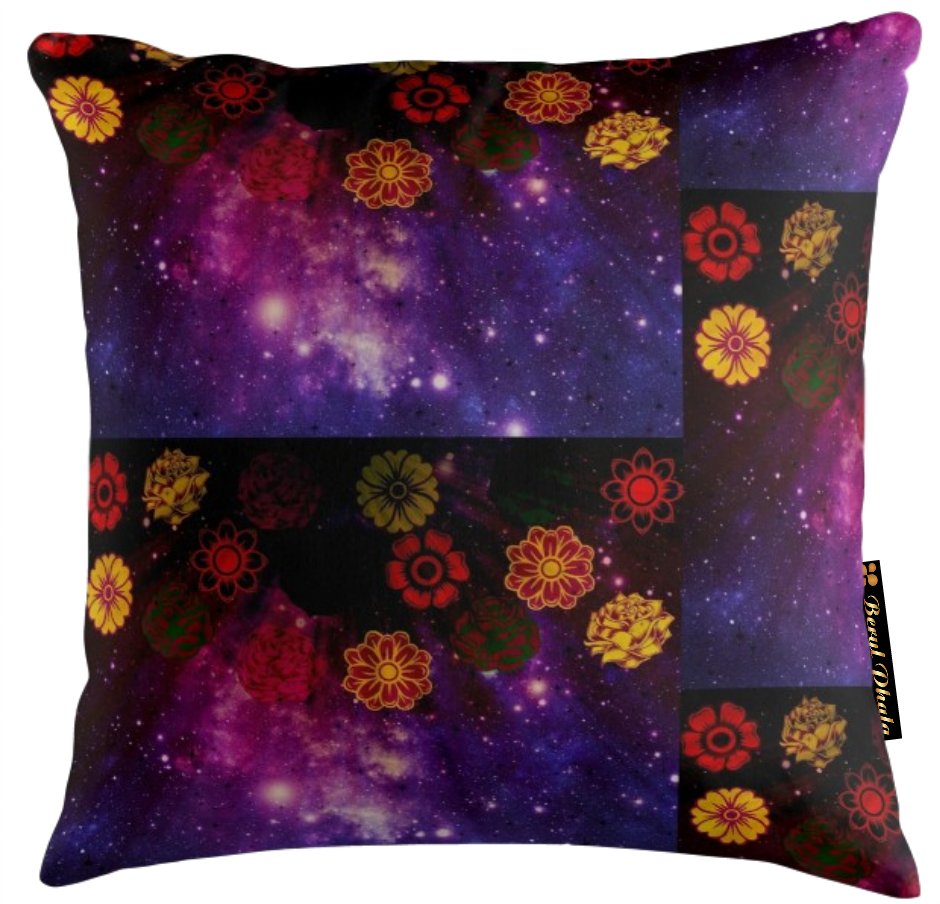MARIGOLD AND ROSES CUSHION COVER