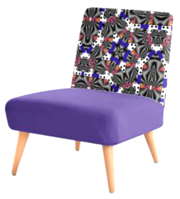 OCCASIONAL CHAIR - ULTRA VIOLET PRINT DESIGN