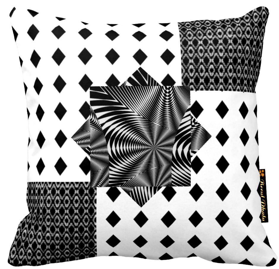 Cushion Black Diamonds Multi Print Design