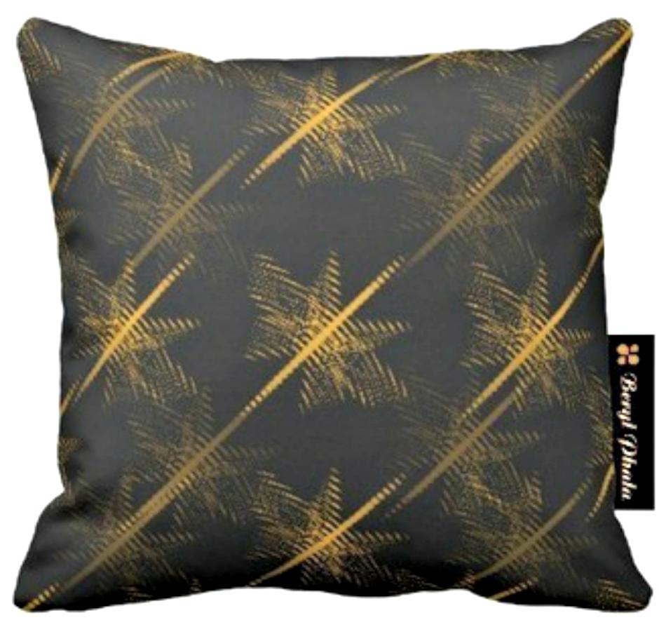 Cushion Gold Stairs Print Design