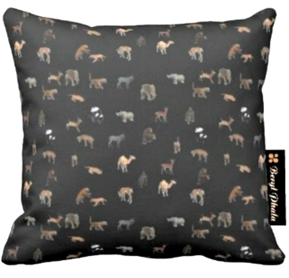 Cushion Animal Print Design