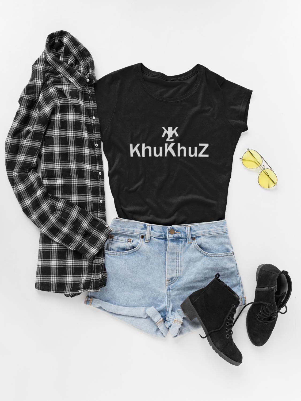 KHUKHUZ WOMENS SHORT SLEEVE BLACK T-SHIRT
