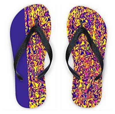 Flip Flops Mismatched Ultra Violet Print1