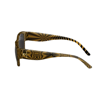 SUNGLASSES BLACK AND GOLD ZEBRA PRINT
