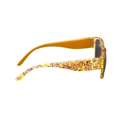 SUNGLASSES YELLOW & MAUVE PRINT DESIGN