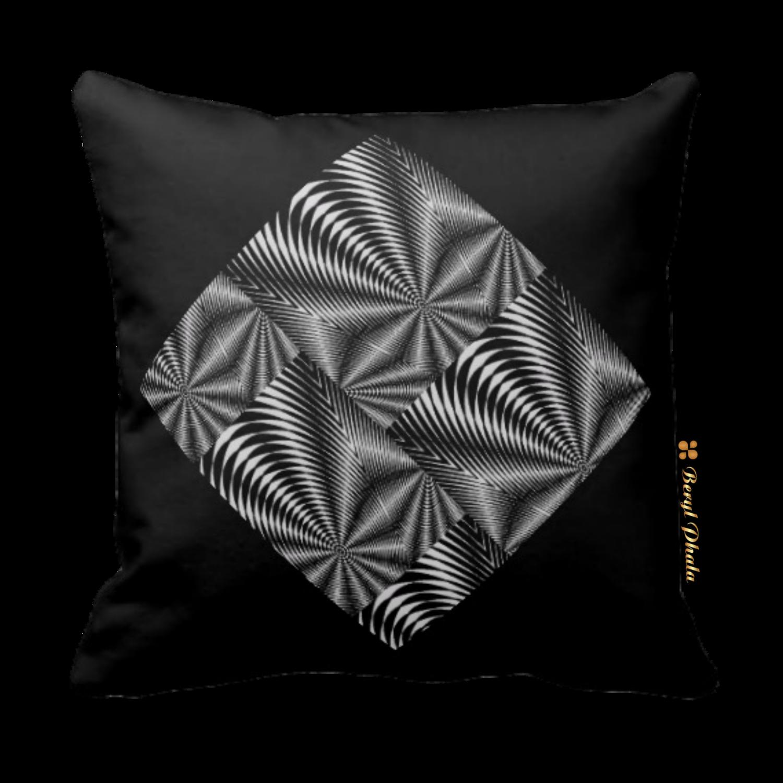 Cushion Black and White Zebra Print Patch Design